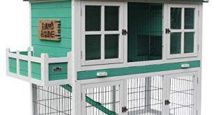 41v87s12daL 310x165 - Dehner Nagerheim Happy Home Plazzo, ca. 145 x 72 x 121 cm, Tannenholz, weiß/türkis