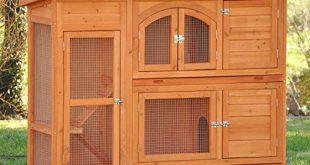 nanook Kaninchenstall Hasenstall Jumbo XL mit seitlichen Aufgaengen fuer mehr 310x165 - nanook Kaninchenstall, Hasenstall Jumbo XL mit seitlichen Aufgängen für mehr Platz - Wetterfest extragroß 138 x 48 x 109 cm Natur braun